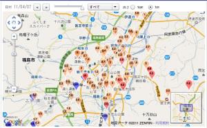 福島市内の学校の放射能値