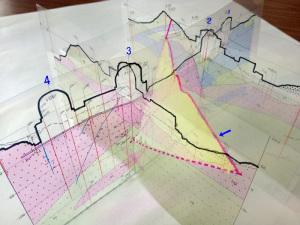 大飯原発F6断層の立体構造