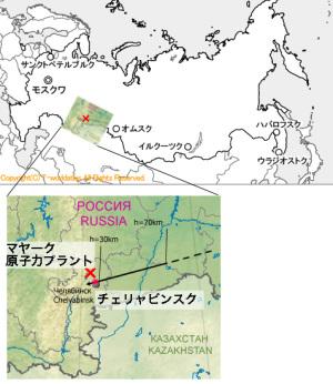 隕石落下地点と核施設の位置
